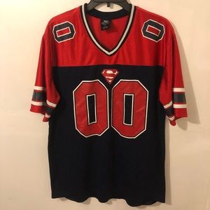 Superman Sports Jersey Shirt Men's Size Large